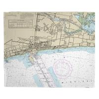 MS: Gulfport, MS Nautical Chart Blanket