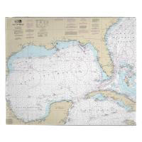 Gulf of Mexico Nautical Chart Blanket