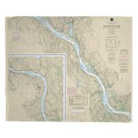 CT: Connecticut River; Deep River to Bodkin Rock, CT Nautical Chart Blanket