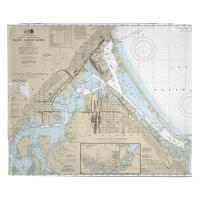 MN-WI: Duluth, MN & Superior, WI Nautical Chart Blanket