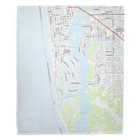 Port Royal Naples, FL Nautical Chart Blanket