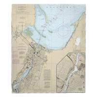 WI: Green Bay, WI Nautical Chart Blanket