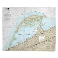 PA: Erie Harbor, Presque Isle, PA Nautical Chart Blanket