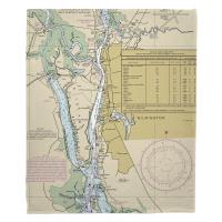 NC: Wilmington, NC Nautical Chart Blanket