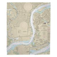 PA-NJ: Delaware River, Philadelphia, PA & Camden, NJ Nautical Chart Blanket