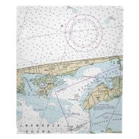 NC: Kill Devil Hills, Nags Head, NC Nautical Chart Blanket