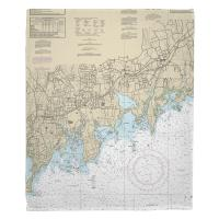 CT: Stamford, Norton, CT Nautical Chart Blanket