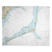NC: Cape Hatteras, NC Nautical Chart Blanket