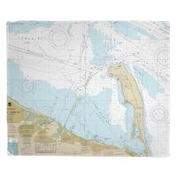 NJ: Sandy Hook, NJ Nautical Chart Blanket