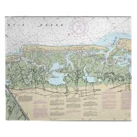 NJ: Stone Harbor, Avalon, NJ Nautical Chart Blanket