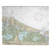 NJ: Atlantic City, NJ Nautical Chart Blanket