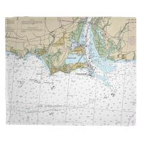 CT: Old Saybrook, CT Nautical Chart Blanket