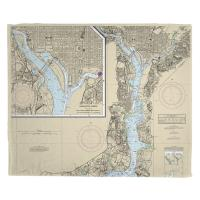 DC: Washington Harbor, DC Nautical Chart Blanket