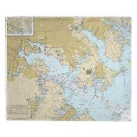 MD: Baltimore, MD Nautical Chart Blanket