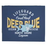 Deep Blue Shark Blanket