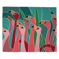 Flamingo Walk Blanket