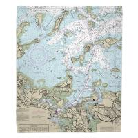 MA: Quincy, MA Nautical Chart Blanket