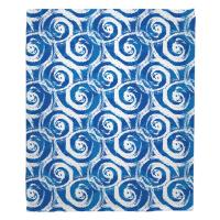 Swirls Blue Blanket