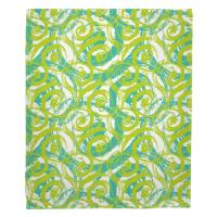 Swirls Lime Blanket