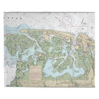 NJ: Brigantine, NJ Nautical Chart Blanket