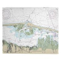 NJ: Barnegat Light, NJ Nautical Chart Blanket