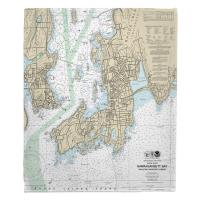 RI: Newport, RI Nautical Chart Blanket