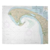 MA: Provincetown, MA Nautical Chart Blanket