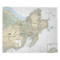 MA: Cape Ann, MA Nautical Chart Blanket