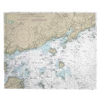 MA: Manchester, MA Nautical Chart Blanket