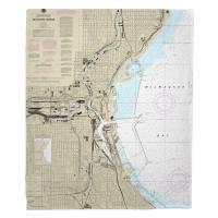 WI: Milwaukee Harbor, WI Nautical Chart Blanket