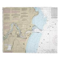WI: Sheboygan, WI Nautical Chart Blanket