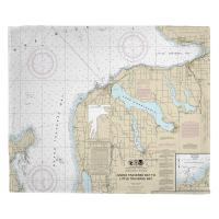 MI: Charlevoix, MI Nautical Chart Blanket