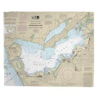 MI: Muskegon, MI Nautical Chart Blanket