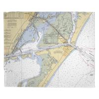 TX: Port Aransas, TX Nautical Chart Blanket