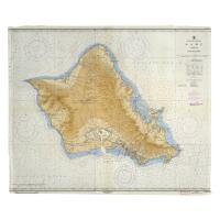 HI: Oahu, HI, C. 1959 Vintage Nautical Chart Blanket