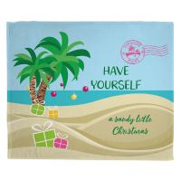 Have Yourself A Sandy Little Christmas Blanket