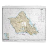 HI: Oahu, HI Nautical Chart Blanket