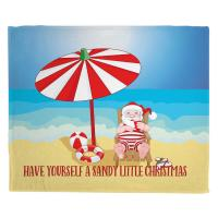 Beach Santa Christmas Blanket