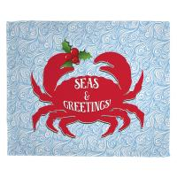 Seas and Greetings Crab Christmas Blanket