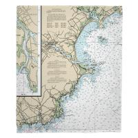 ME: Biddeford, ME Nautical Chart Blanket