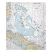 Bahama Islands Nautical Chart Blanket