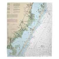 NJ: Long Beach Island, NJ Nautical Chart Blanket