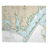 NC: Beaufort Inlet, Core Sound, NC Nautical Chart Blanket
