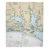 NC: Morehead City, Beaufort, NC Nautical Chart Blanket