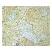 NH: Lake Winnipesaukee, NH Topo Map Table Runner