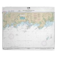 CT: Branford Harbor, The Thimbles, Guilford, CT Nautical Chart Blanket