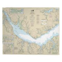 NC: Neuse River, Upper Bay River, NC Nautical Chart Blanket
