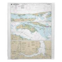 NC: Cape Henry to Pamlico Sound, NC Nautical Chart Blanket
