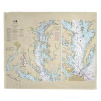MD-VA: Chesapeake Bay, MD-VA Nautical Chart Blanket