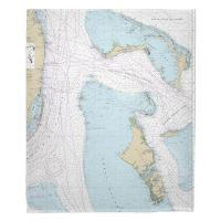 Grand Bahama, Abaco, Andros, New Providence, Bahamas Nautical Chart Blanket